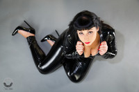 tailor made full body 2 way crotch zipper catsuit to your measurements.  latex allergy bodysuit.