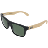 Matte Black Frame Natural Bamboo Temple G15 Green Lens