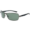 Matte Gunmetal Frame Matte Black-Grey Rubber Tips G15 Green Lens