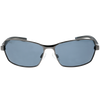 Matte Gunmetal Frame Matte Black-Grey Rubber Tips Smoke Lens