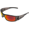 Shiny Crystal Grey Frame Black Rubber Tips Red Multi-Mirror Lens