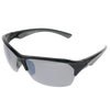Shiny Black Grey Rubber Frame Smoke Mirror Lens