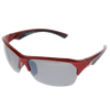 Shiny Metallic Red Black Rubber Frame Smoke Mirror Lens