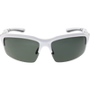 Shiny White Frame Light Gray Rubber Smoke Lens