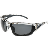Digital Camo Print Frame Black Rubber Smoke Lens