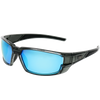 Smoke-Metallic Crystal Gray Frame Black Rubber Ice Blue revo Lens