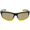 Matte Black-Crystal Bright Yellow Gradient Frame Gold Mirror Lens