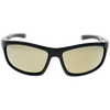 Shiny-Matte Black Frame Gold Mirror lens