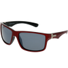 Shiny Red Frame Smoke Mirror Lens