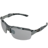Grey Digital Camo frame Silver Flash lens