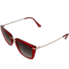 Crystal Burgundy frame Smoke lens