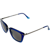 Crystal Navy frame Smoke lens