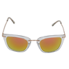 Crystal Clear frame Pink Multi-Mirror lens