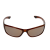 Rounded Rectangle- Crystal Caramel frame Brown lens