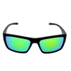 Matte Black frame Green Mirror lens