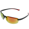 Shiny Black Frame Red to Yellow Mirror Lens