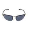 Shiny Crystal Gray Frame Smoke Mirror Lens