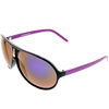 Shiny Black Frame Purple Mirror Lens