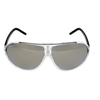 Crystal White Frame Smoke Mirror lens