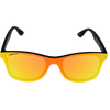 Matte Crystal Clear frame Yellow Mirror lens