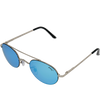 Shiny Silver Frame Ice Blue Multi Mirror Lens