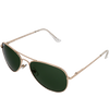 Shiny Gold Frame G15 (green) Lens