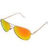 Matte Gold Frame Orange Multi Mirror Lens