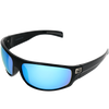 Matte Black Frame Ice Blue Mirror Lens