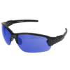 Shiny Crystal Grey Frame Shiny Crystal Grey-Black Rubber Tips Ice Blue Mirror Lens