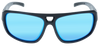Shiny Black- Matte Black frame, Ice Blue Multi-Mirror Hydrophobic Polarized lens