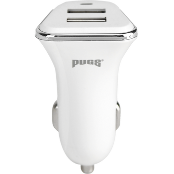 White Two Port Car Charger