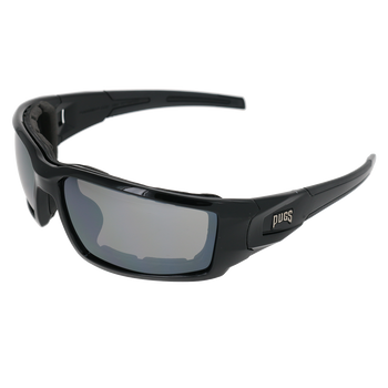 Shiny Black Frame Shiny Black-Black Rubber Tips Smoke flash Mirror Lens