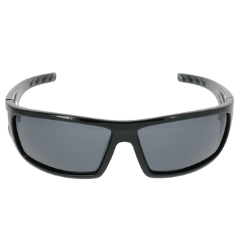 Shiny Black Frame Smoke Lens
