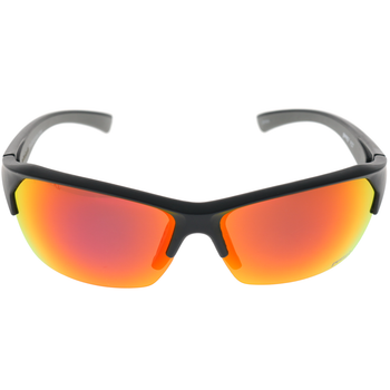Matte Black Grey Rubber Frame Red Multi-Mirror Lens