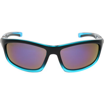 Matte Black-Crystal Bright Blue Gradient Frame Blue revo lens
