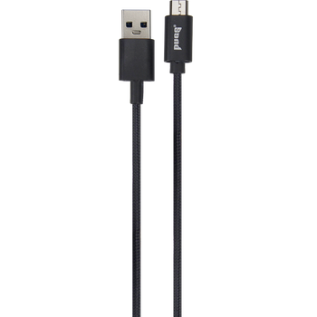 Black nine foot micro USB charge and sync cable