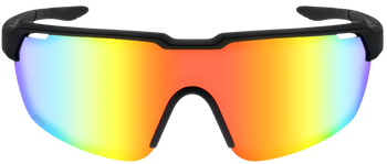 Matte Black, Rainbow Multi-Mirror lens