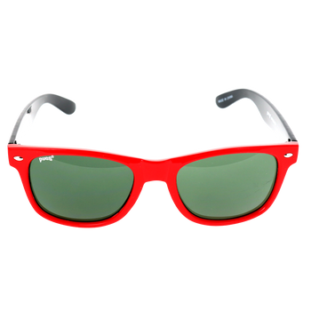 Shiny Red Single Stud Frame, G15 (Green) Lens