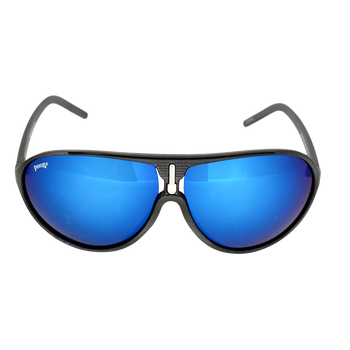 Matte Metallic Gunmetal Frame Ice Blue Mirror Lens