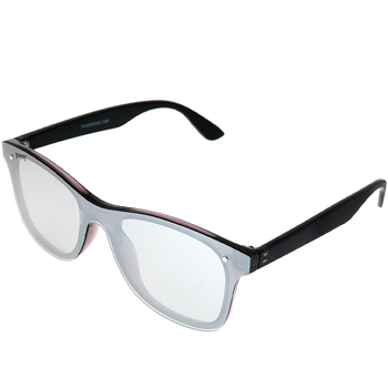 Shiny Crystal Grey w/ Matte backspray frame Silver Mirror frame
