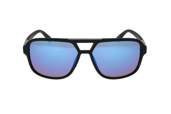 Black Soft Feel, Blue Mirror lens