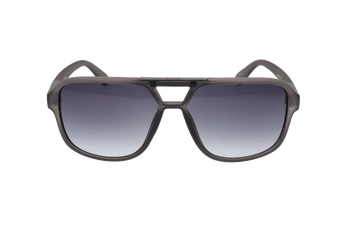 Matte Crystal Grey, Smoke Gradient lens