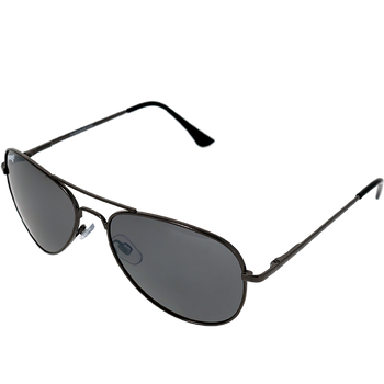Shiny Gunmetal Frame Smoke Mirror Lens