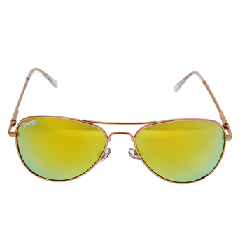 Matte Gold Frame Yellow Multi Mirror Lens