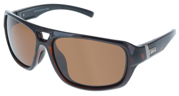 Shiny Tortoise-Black frame, Brown Hydrophobic Polarized lens