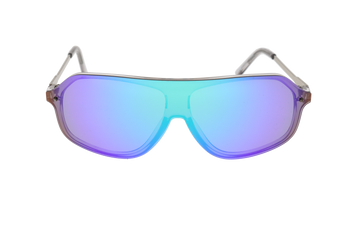 Shiny Crystal Grey, Green Multi-Mirror lens