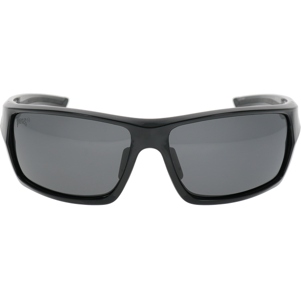 Shiny Black Black Rubber Smoke Lens