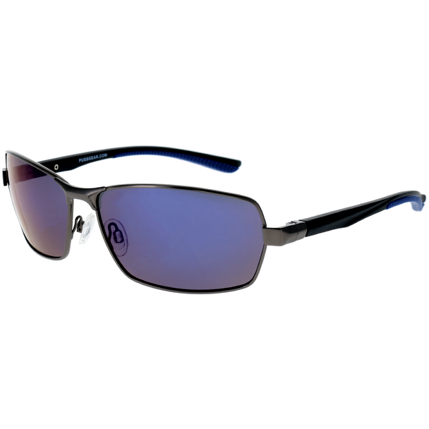 Matte Gunmetal Frame Matte Black-Blue Rubber Tips Blue Multi Mirror Lens