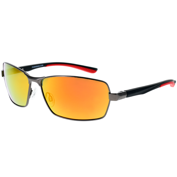 Matte Gunmetal Frame Matte Black-Red Rubber Tips Red Multi Mirror Lens