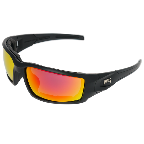 Matte Black Frame Matte Black-Black Rubber Tips Red Multi Mirror Lens